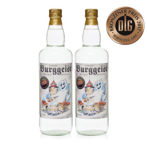 Fränkischer Burggeist 2x0,7L Klarer Kräuter Schnaps
