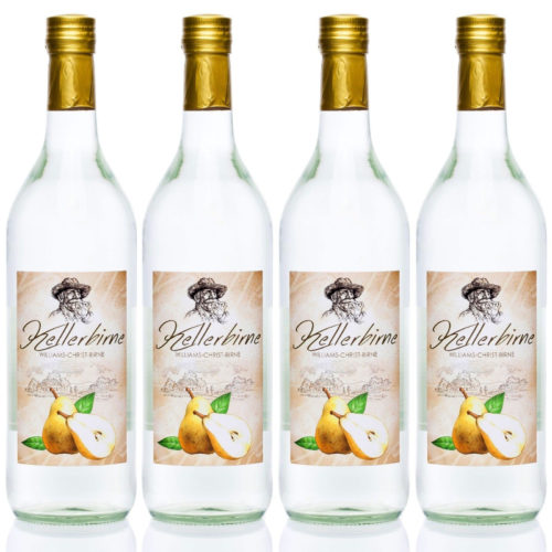Kellerbirne 4x1,0L Williams-Christ Birnen Schnaps