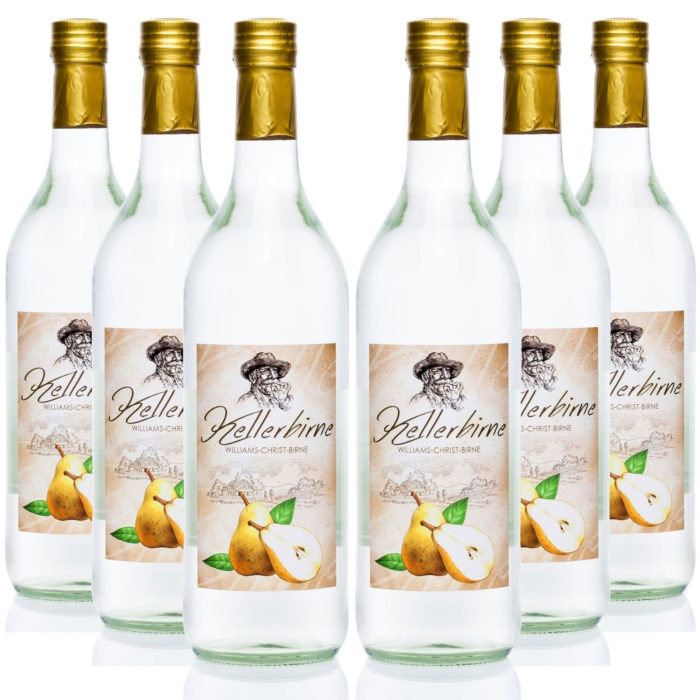 Kellerbirne 6x1,0L Williams-Christ Birnen Schnaps